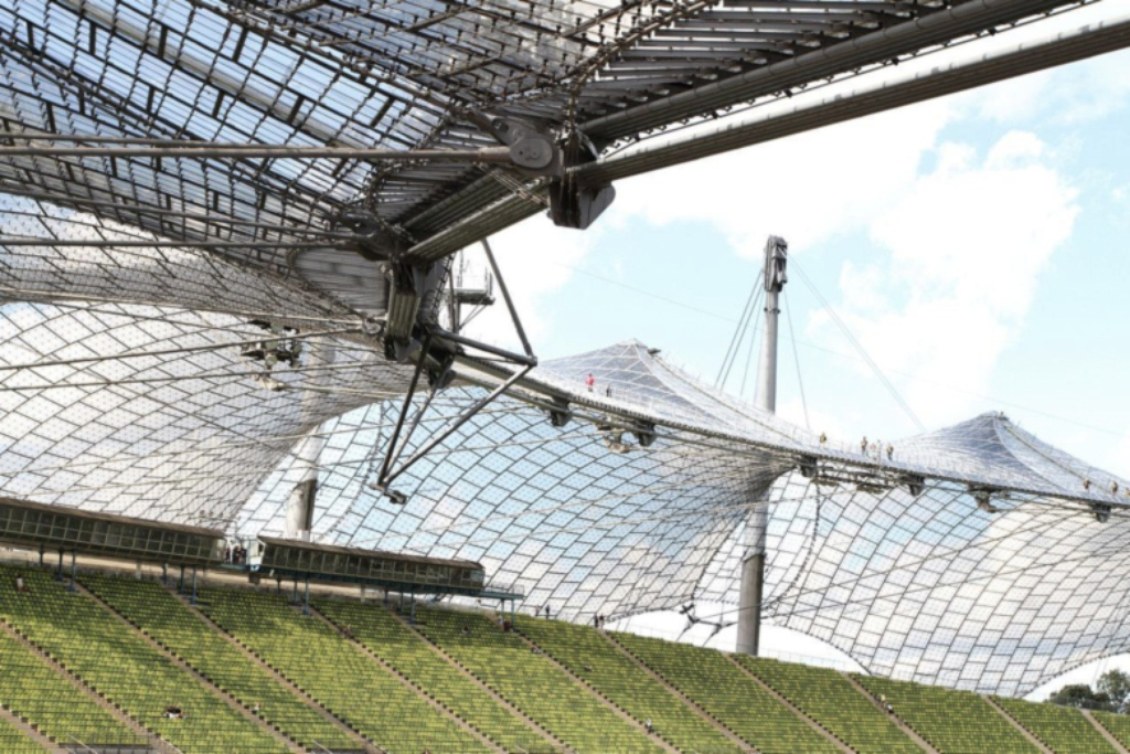 frei otto munich stadium Olympic stadium munich 1972 olympics, munich designed by architect günther behnisch and engineer frei otto, the munich stadium has canopies of glass that make it an airy contrast to the venue in.